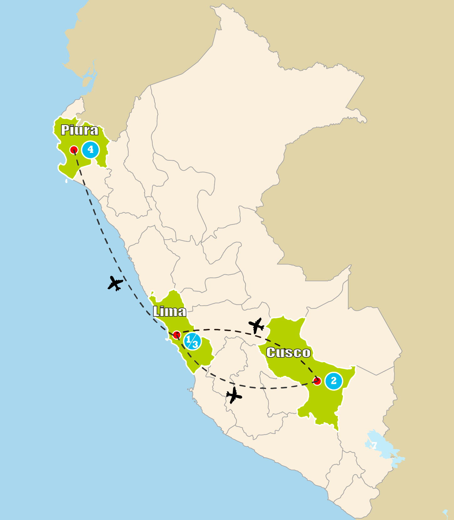 mapa tour
