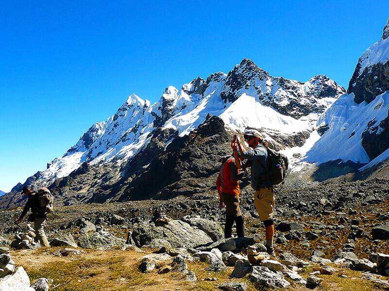 Adventure Tours Hiking to Machu Picchu Tours: Salkantay Trek to Macchupicchu 5Days/4Nights. The best tourist packages in Peru and South America.
